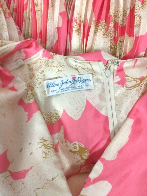 Vintage 60s dress   Vintage pink floral cocktail … - image 10