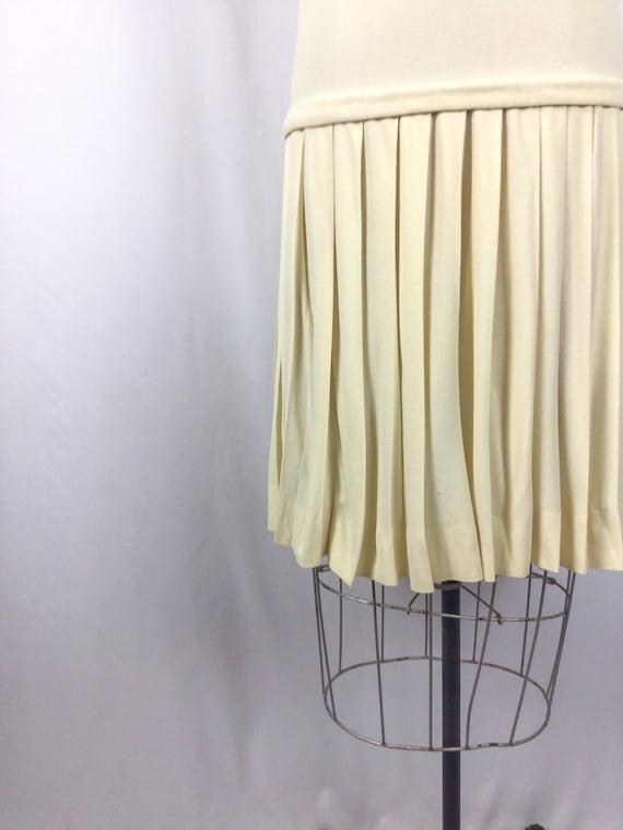 Vintage 60s dress | Vintage ivory drop waist dres… - image 7