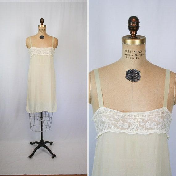 Vintage Edwardian silk slip | Vintage vanilla silk