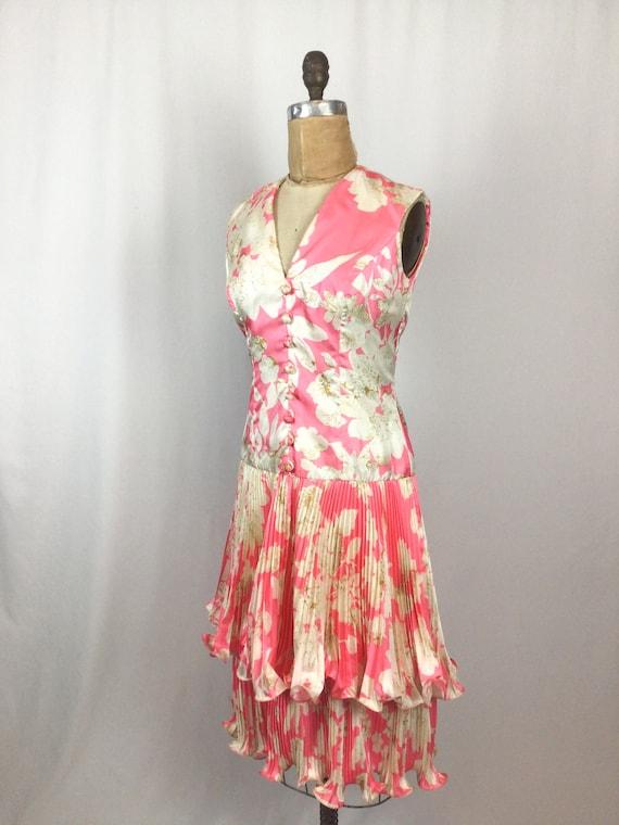 Vintage 60s dress   Vintage pink floral cocktail … - image 6