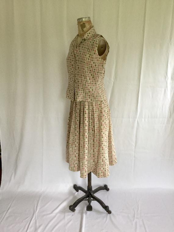 Novelty 50s top & skirt dress set | Vintage novel… - image 5