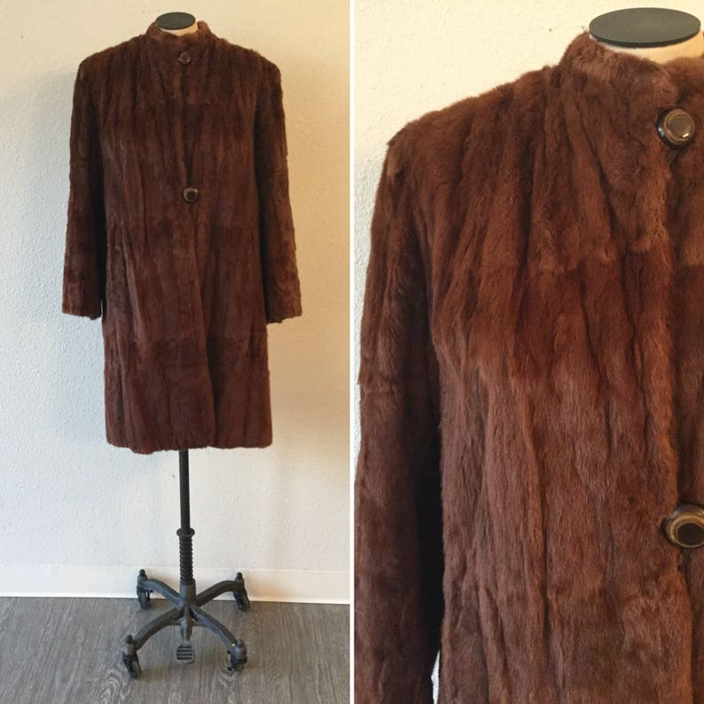Mink Coat Value >> Rouge 40s Mink Fur Coat Vintage Three Quarter Mink Fur Coat Etsy