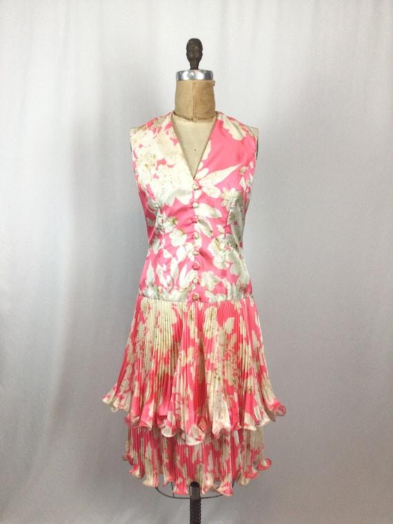 Vintage 60s dress   Vintage pink floral cocktail … - image 4