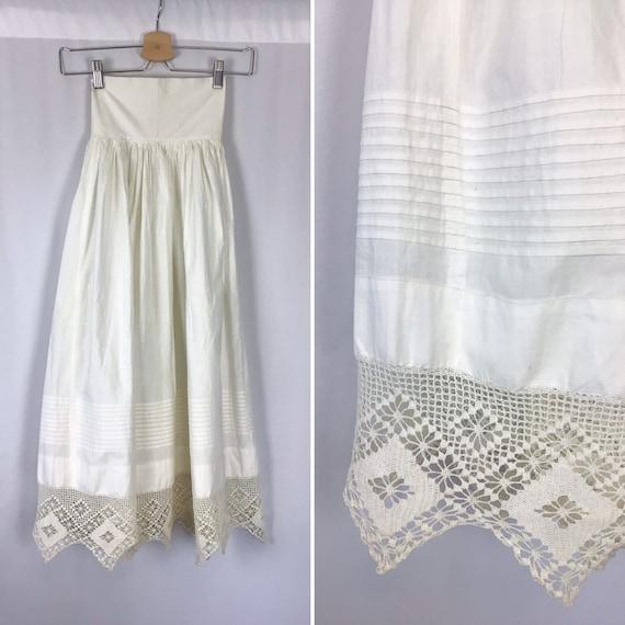 Vintage Edwardian Underskirt | Vintage off white c