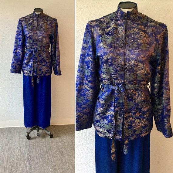 Mame 40s lounge set   Vintage silk chinoiserie lou