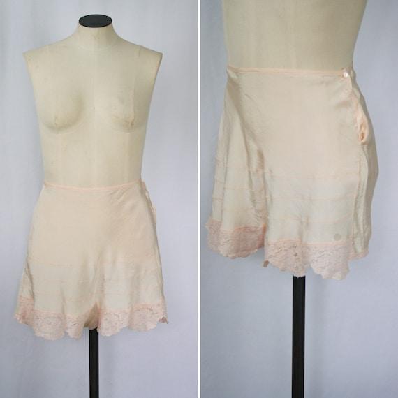 Vintage 40s tap pants | Vintage tea rose rayon tap