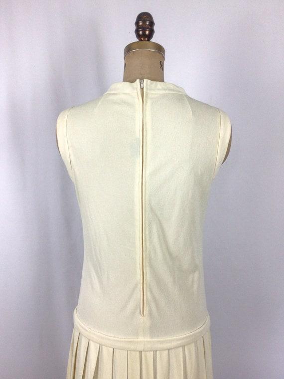 Vintage 60s dress | Vintage ivory drop waist dres… - image 8