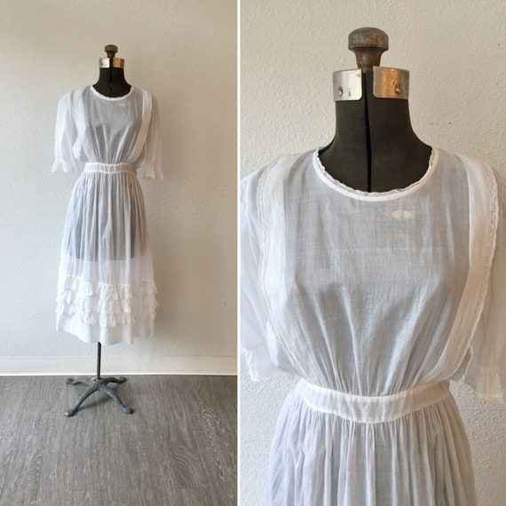 Mansfield 1900s dress || Vintage Edwardian cotton