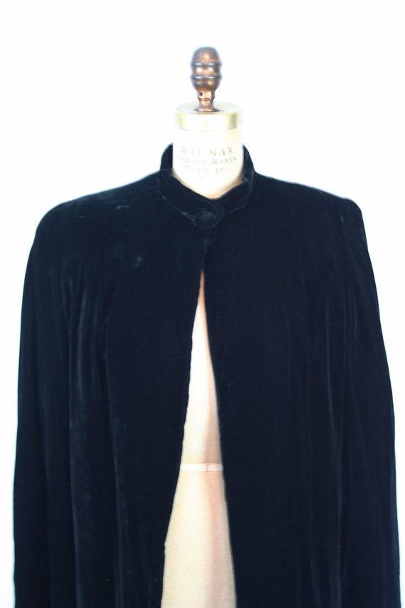 Vintage 30s jacket | Vintage black silk velvet  j… - image 2
