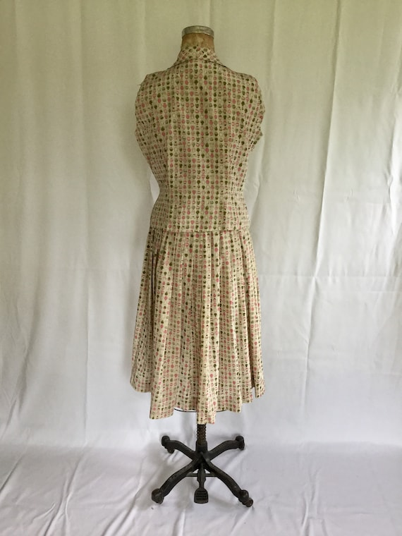 Novelty 50s top & skirt dress set | Vintage novel… - image 8