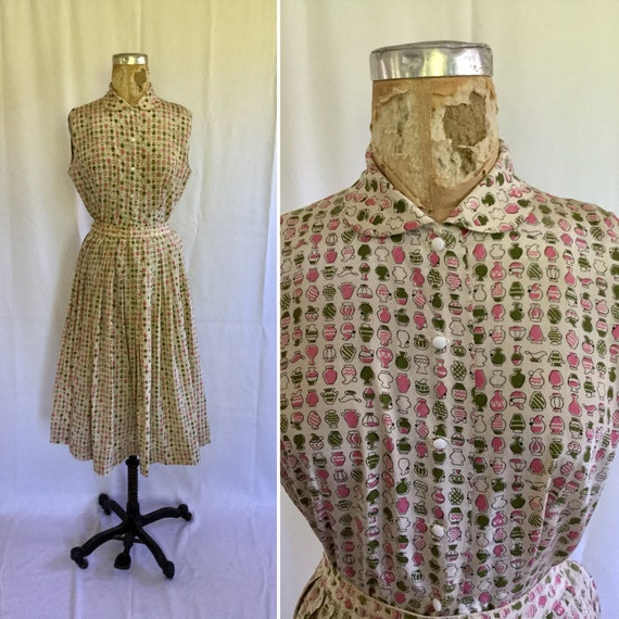 Novelty 50s top & skirt dress set | Vintage novelt
