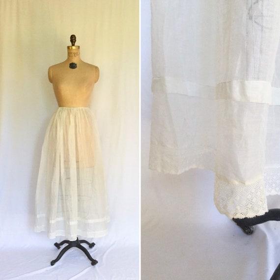 Vintage Edwardian Underskirt | Vintage white cotto