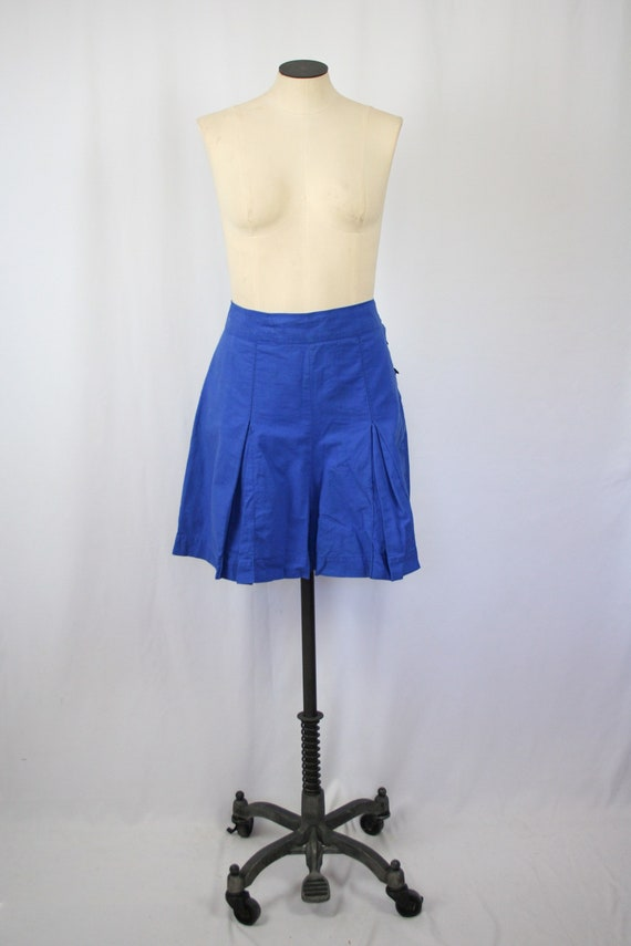 Vintage 40s shorts | Vintage indigo blue cotton nu
