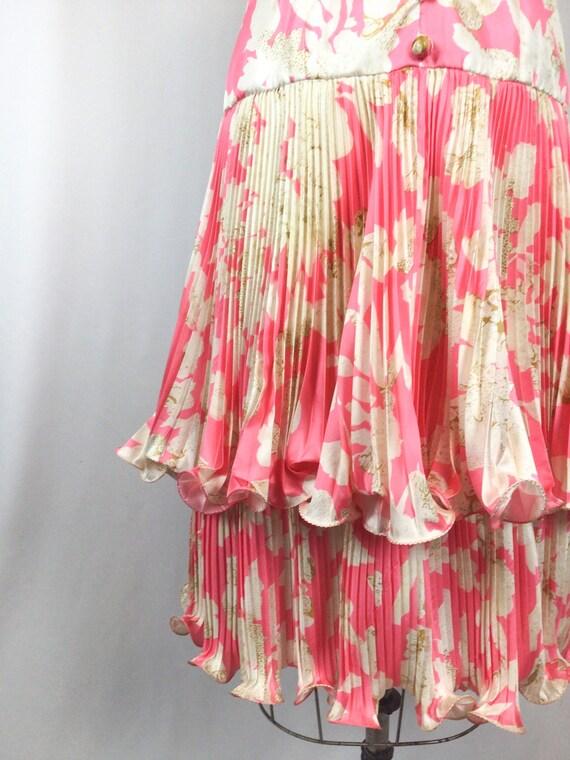 Vintage 60s dress   Vintage pink floral cocktail … - image 3