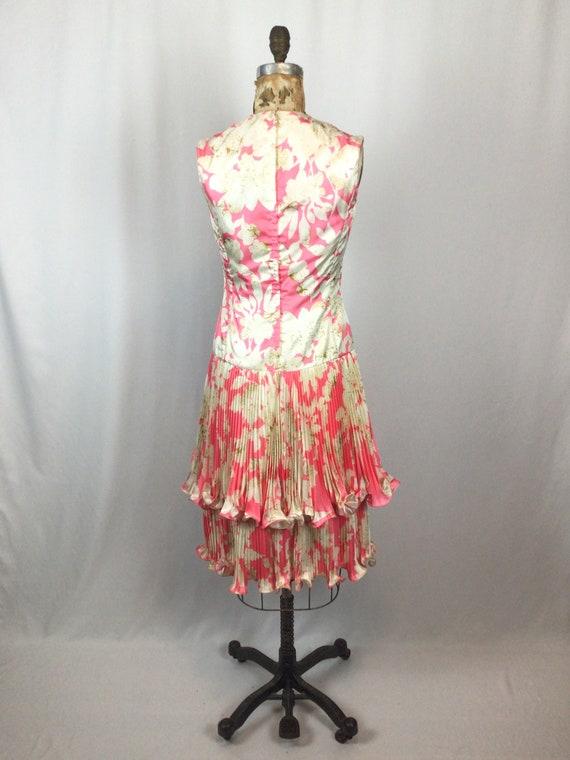 Vintage 60s dress   Vintage pink floral cocktail … - image 8