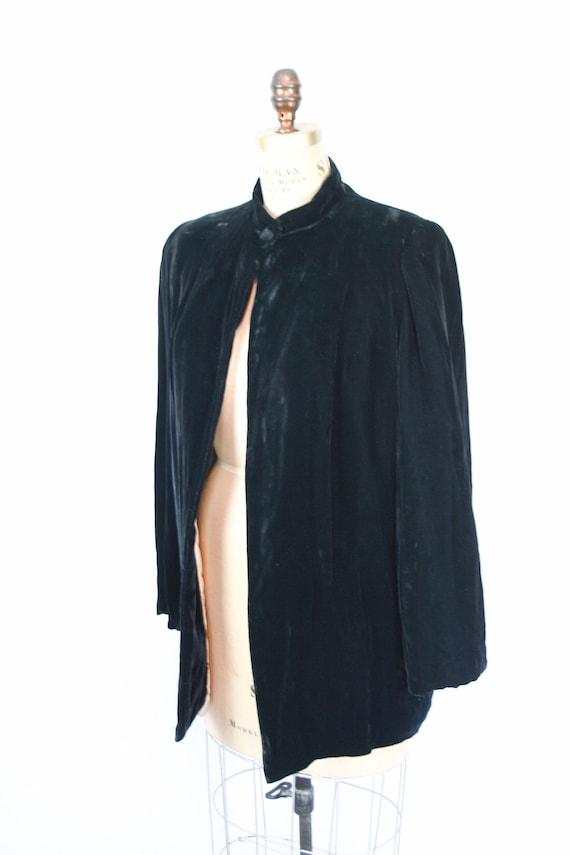 Vintage 30s jacket | Vintage black silk velvet  j… - image 7