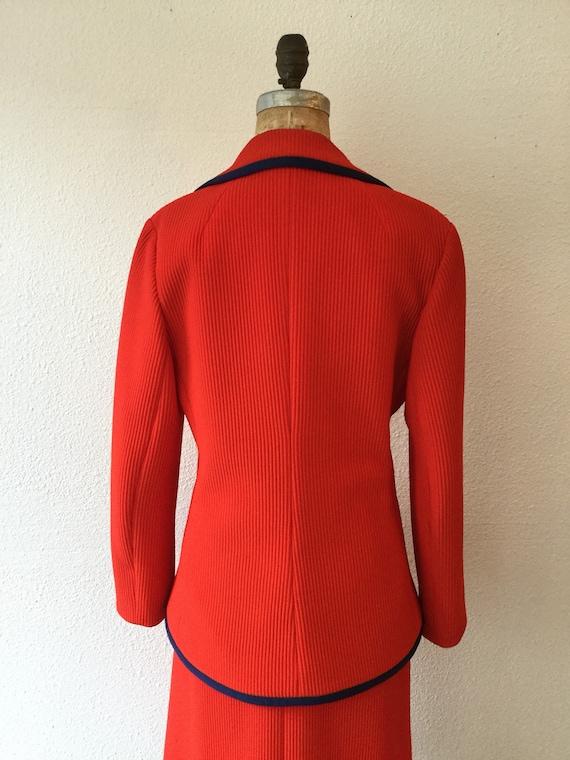 Lilli Ann 70s suit | Vintage tomato red knit suit… - image 8