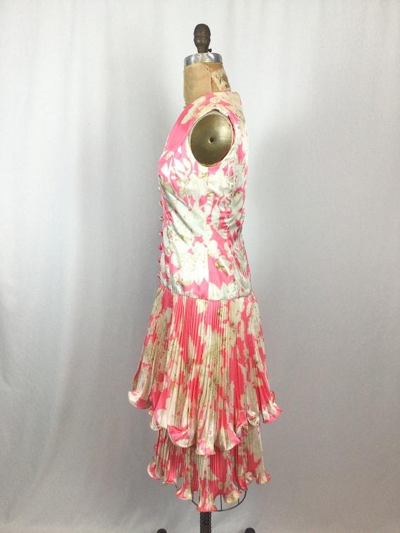 Vintage 60s dress   Vintage pink floral cocktail … - image 7