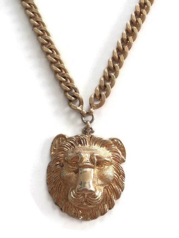 Nettie Rosenstein Gold Lion Pendant Necklace