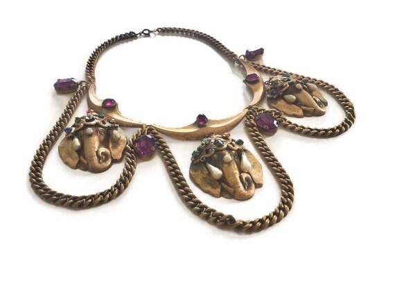Joseff of Hollywood Jeweled Indian Elephant Festoo