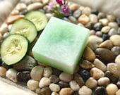 Cucumber Melon soap, handmade soap, bar soap, cucumber soap, fresh fruity green soap gift for her