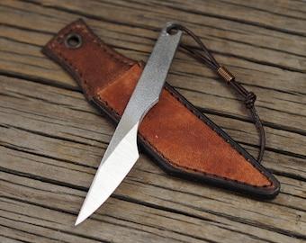 Kiridashi knife, carving knife, neck knife, edc knife, self defence tool - left handed