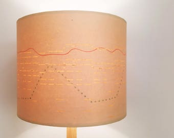Lamp shades etsy nz vintage pianola roll lampshades and pendant lighting by bespoke order greentooth Gallery