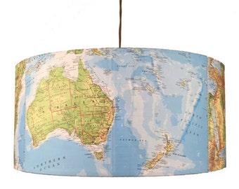 World Atlas lighting ~SALE!!~ hanging pendant light shade. Upcycled vintage maps.