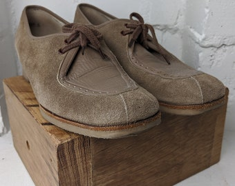 Suede Shoes - pristine vintage condition - Handcrafted in Australia