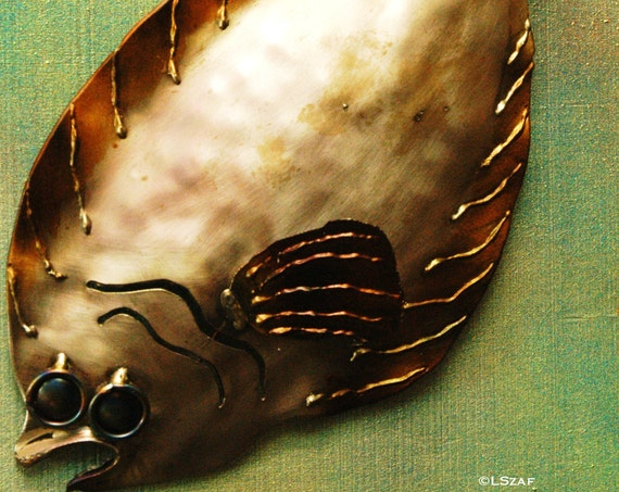 Flounder -  metal fish wall art -  welded sculpture - fish beach decor - handmade metal fish - art for beach house - salt water fish art