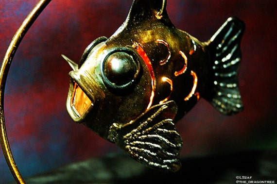Patty O' Fish, Outdoor Candle Decor, 3D Fish Candle Sculpture