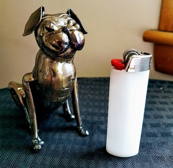 Pet memorial - Pug - dog memorial - pug gifts for her - metal sculpture - custom pet sculpture - signed reproduction - custom dog sculpture