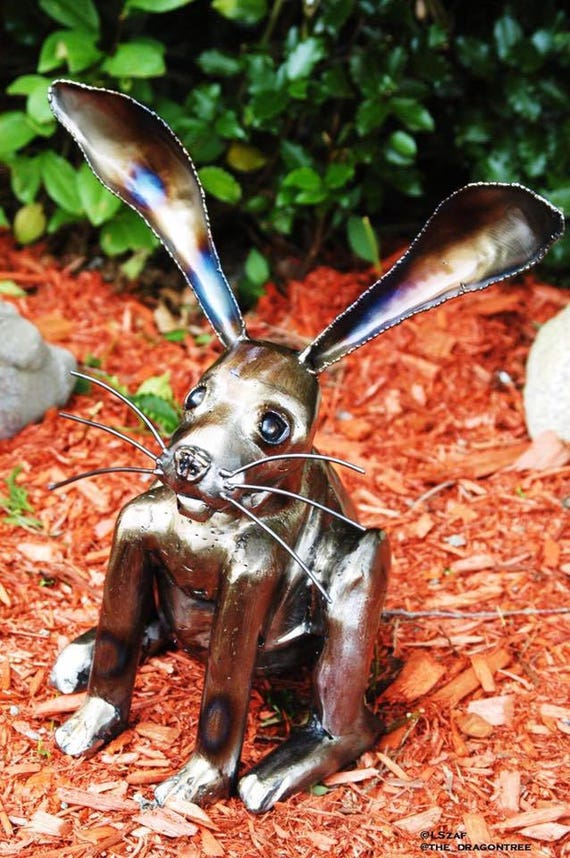 3D Rabbit Sculpture, Outdoor Finish, Made to Order