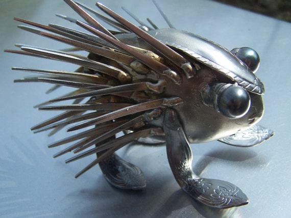 The Humble Forkupine,Silverware,Metal Sculpture,Welded Art