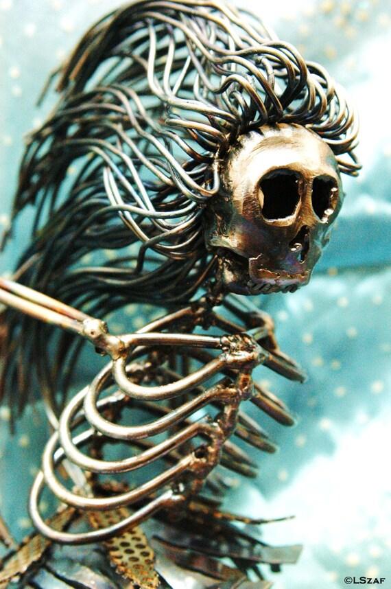 Ballerina Dancer - skeleton figurine - collectible dance gift - ballet dancer - on point - performing arts - dancing girl - metal sculpture