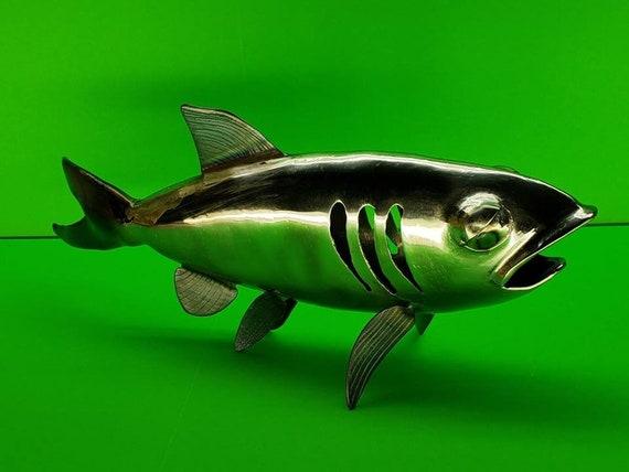 Silver Fish - 3D Sculpture - Welded Metal Art - Fine Art Sculpture - Fly Fishing Art - Steel Fish - Contemporary Art -  for the Office -