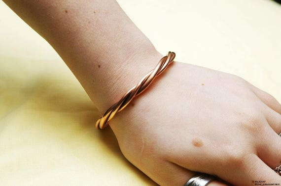 Apollo-  therapeutic copper unisex bracelet- made to order- you pick size