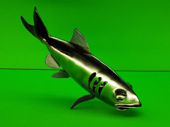 3D Metal Fish - Free Standing Steel Sculpture - Modern Home Decor - for the Lake House - Signed Art - Contemporary Artist , Metal Fish