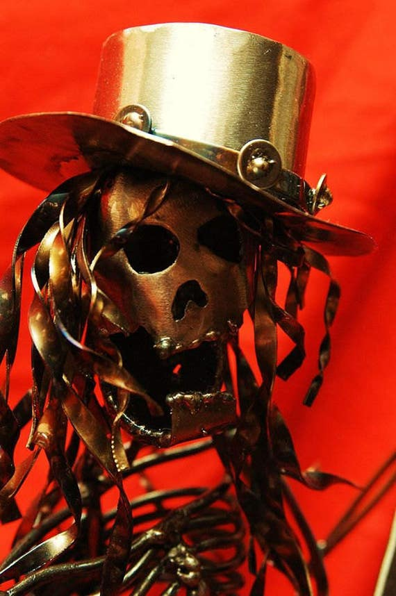 Skeeter, Morgans Collection,Guitar Player Metal Sculpture