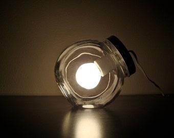 Modern Glass Jar Lighting with Clear Light Bulb / Modern