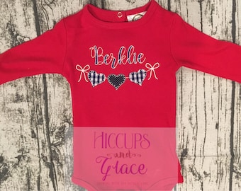 Personalized Heart Onesie or t-shirt