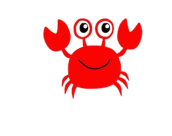 Cute Crab SVG cutting file for Cricut and Silhouette-EPS-DXF