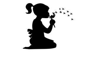 Make a Wish-Girl and Dandelion-SVG-Cut file-Cricut-Silhouette