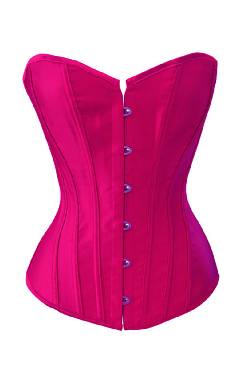 53df2afe74 Solid Color Satin Bustier Corset Navy Purple Wine Red Pinks