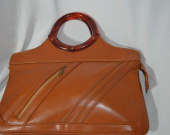 Vintage Burnt Orange Purse Lucite Purse Mr. Ralph