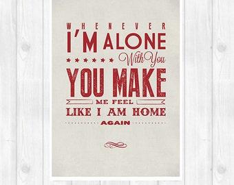20% OFF!! The Cure print - Love Song - Music poster Music print Lyrics Print