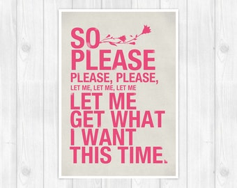 20% OFF!! The Smiths print -  Please - Music poster Music print Lyrics Print