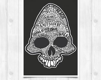 20% OFF!! Ramones Print - Ramones Pinhead - Music poster Music print Lyrics Print