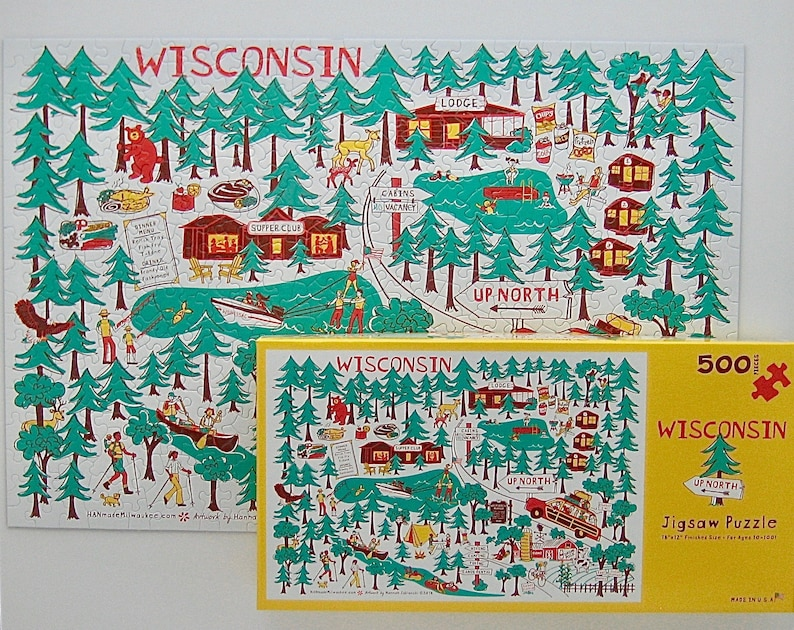 Wisconsin Up North Jigsaw Puzzle image 0