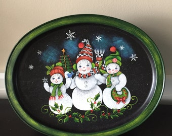 Snowman Cookie Tin